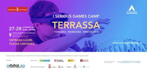 Imatge noi jove amb ulleres realitat virtual. I Serious Games Camp Terrassa. Videojocs-Tecnologia-Impacte social. 27-28 desetembre 2018 8:45-14:00 h. Vapor Universitari de Terrassa. Entrada lliure. Places limitades.www.seriousgamescamp.es.
