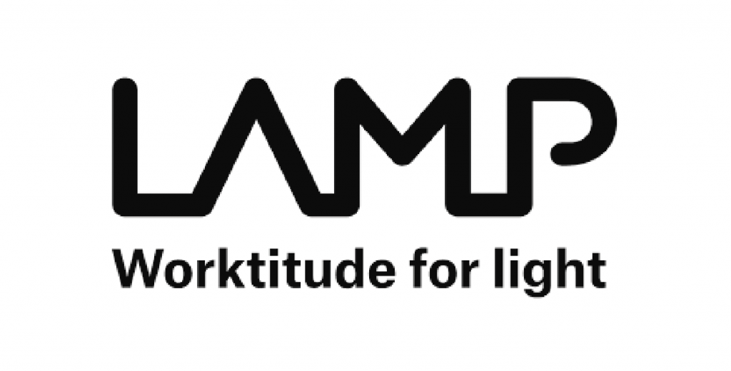 Logo LAMP. Worktitude for light