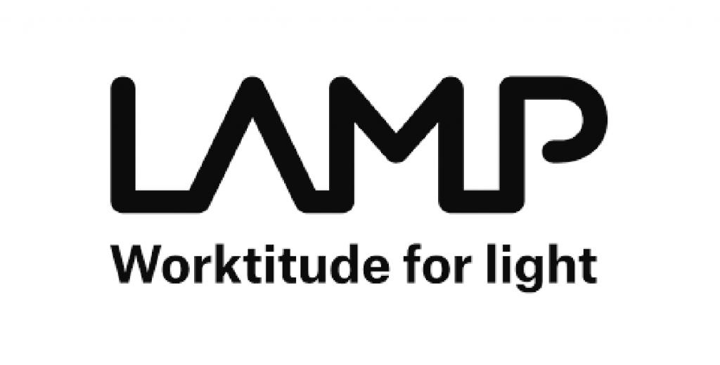 Logo LAMP. Worktitude for light