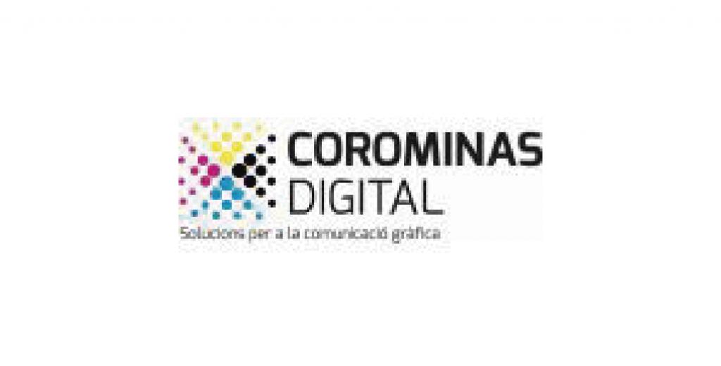 Logo empresa Corominas digital. Solucions per a la comunicació gràfica