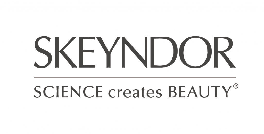 Logo empresa Skeyndor. Science creates Beauty