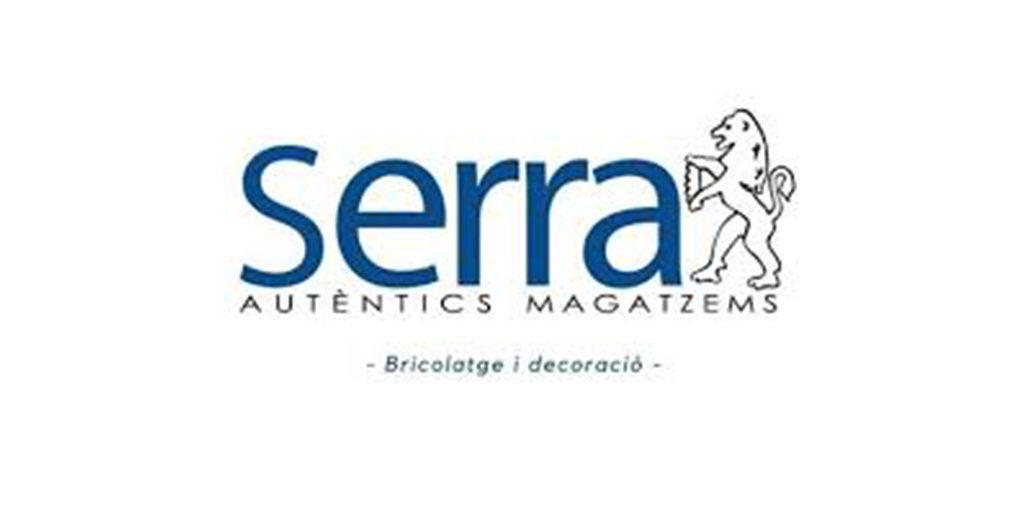 Logo empresa Serra Autèntics magatzems. Bricolatge i decoracio