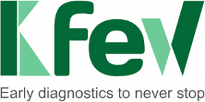 Logo empresa Kfew. Early diagnostics to never stop