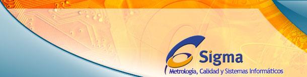 Logo empresa 6Sigma. Metrología, Calidad y Sistemas Informáticos