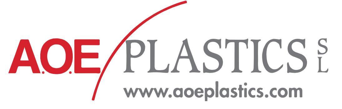 Logo empresa AOE Plastics SL. www.aoeplastics.com