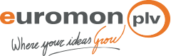 Logo empresa Euromon PLV Where your ideas Grow