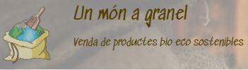 Logo empresa Un món a granel. Venda de productes bio eco sostenibles