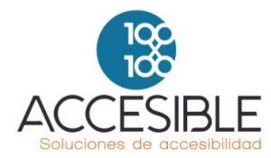 Logo 100*100 Accesible. Soluciones de accesibilidad