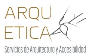 Logo Arquetica. Servicios de Arquitectura y Accesibilidad