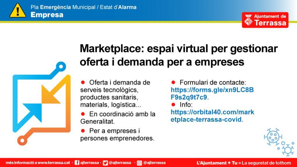 Marketplace: espai virtual per gestionar oferta i demanda per a empreses. Informació detallada.