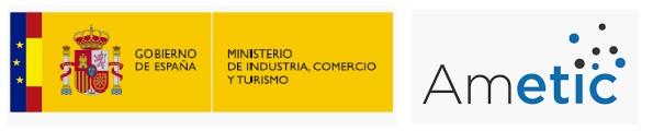 Logo Gobierno de España. Ministerio de Industria, Comercio y Turismo y Ametic