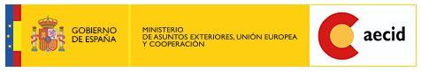 Logo Gobierno de España. Ministerio de asuntos exteriores, Unión Europea y Cooperación. AECID