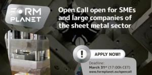 Oberta la convocatòria del projecte FormPlanet per a pimes industrials que produeixen xapa metàl·lica
