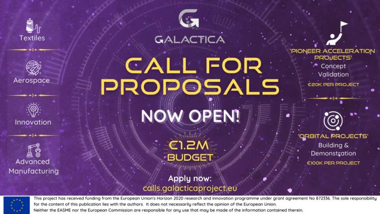 Oberta la primera convocatòria del projecte GALACTICA amb 1,2M € per a noves cadenes de valor de PIMEs europees innovadores