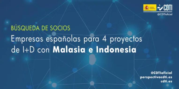 Recerca de socis per col·laborar en diversos projectes d'R+D a Malàisia i Indonèsia