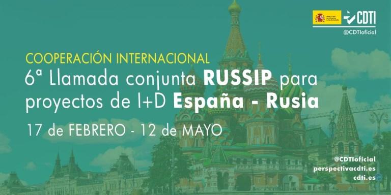 6a crida del Programa Bilateral RUSSIP entre Espanya i Rússia