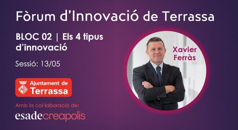 Els 4 tipus d'innovació amb Xavier Ferràs al Fòrum d'Innovació de Terrassa
