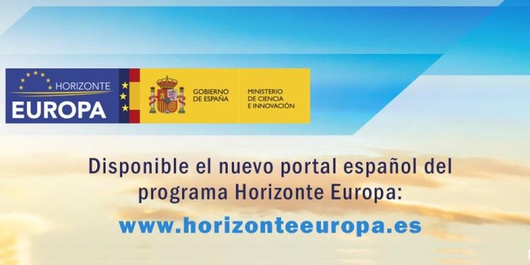 Web Programa Horizonte Europa